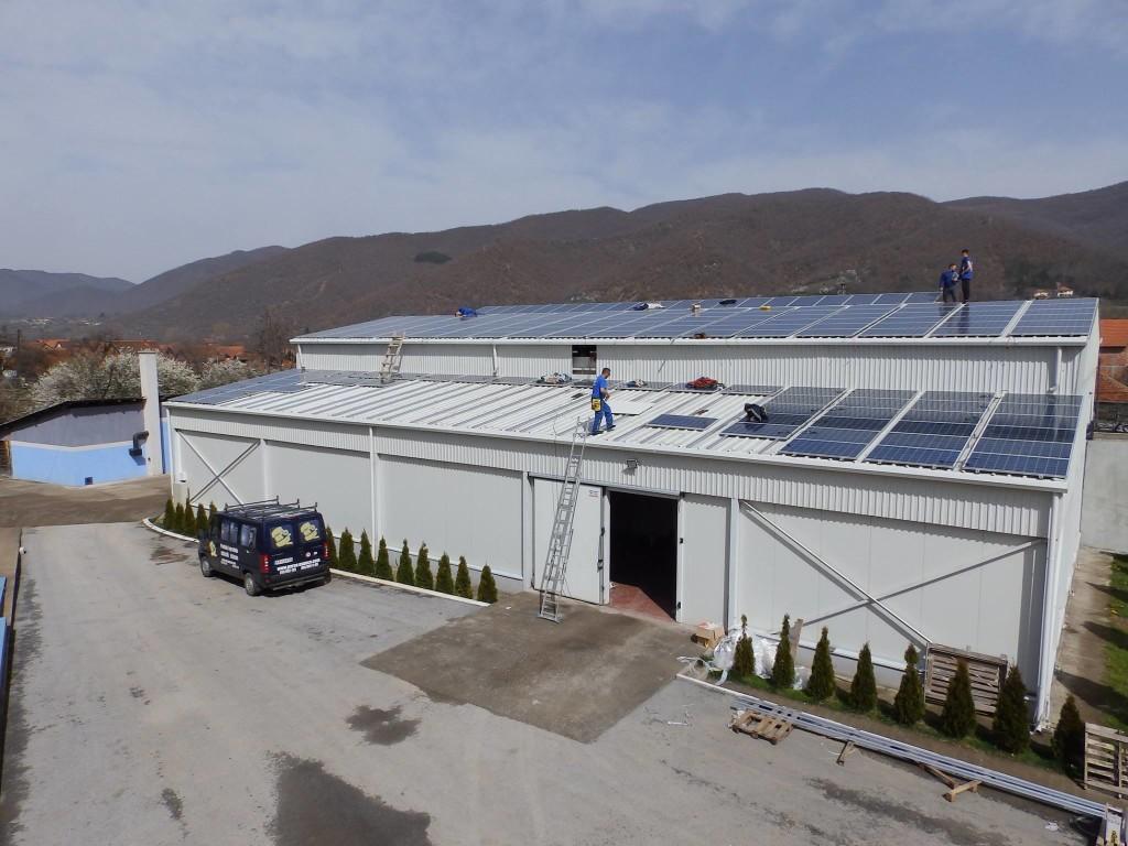 Sırbistan 100KW Çatı Uygulaması